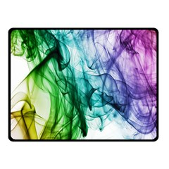 Colour Smoke Rainbow Color Design Fleece Blanket (Small)