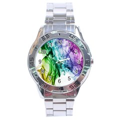 Colour Smoke Rainbow Color Design Stainless Steel Analogue Watch