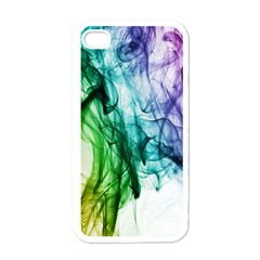 Colour Smoke Rainbow Color Design Apple Iphone 4 Case (white)