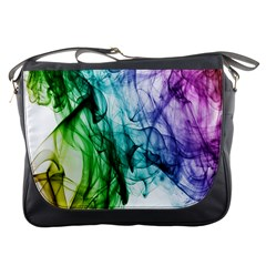 Colour Smoke Rainbow Color Design Messenger Bags