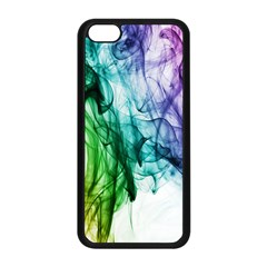 Colour Smoke Rainbow Color Design Apple Iphone 5c Seamless Case (black)