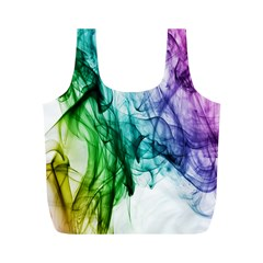 Colour Smoke Rainbow Color Design Full Print Recycle Bags (m)