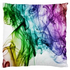 Colour Smoke Rainbow Color Design Large Flano Cushion Case (two Sides)