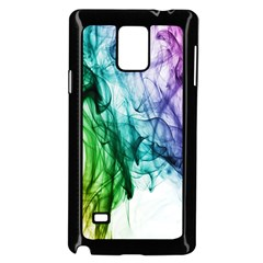 Colour Smoke Rainbow Color Design Samsung Galaxy Note 4 Case (Black)