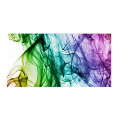Colour Smoke Rainbow Color Design Satin Wrap