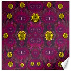 Colors And Wonderful Sun  Flowers Canvas 12  x 12