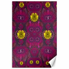 Colors And Wonderful Sun  Flowers Canvas 24  x 36