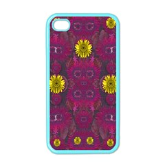 Colors And Wonderful Sun  Flowers Apple iPhone 4 Case (Color)