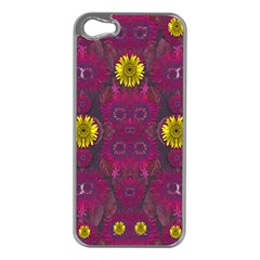 Colors And Wonderful Sun  Flowers Apple iPhone 5 Case (Silver)
