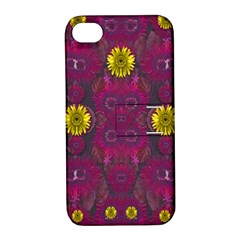 Colors And Wonderful Sun  Flowers Apple iPhone 4/4S Hardshell Case with Stand