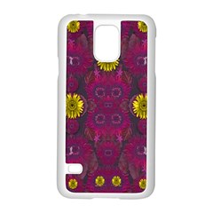 Colors And Wonderful Sun  Flowers Samsung Galaxy S5 Case (White)