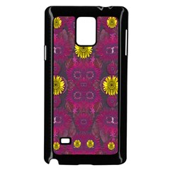 Colors And Wonderful Sun  Flowers Samsung Galaxy Note 4 Case (Black)