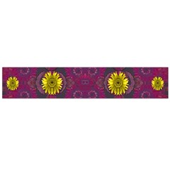 Colors And Wonderful Sun  Flowers Flano Scarf (Large)