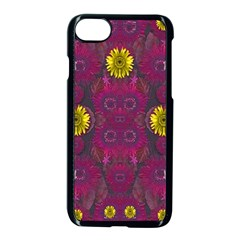 Colors And Wonderful Sun  Flowers Apple Iphone 7 Seamless Case (black)