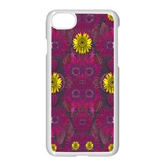 Colors And Wonderful Sun  Flowers Apple iPhone 7 Seamless Case (White)