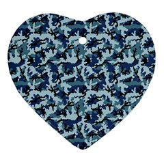 Navy Camouflage Ornament (Heart)