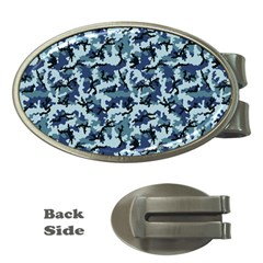 Navy Camouflage Money Clips (Oval)
