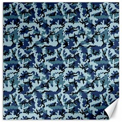 Navy Camouflage Canvas 16  x 16