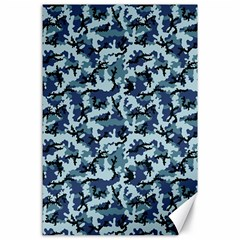 Navy Camouflage Canvas 24  x 36