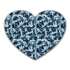 Navy Camouflage Heart Mousepads