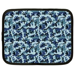 Navy Camouflage Netbook Case (Large)