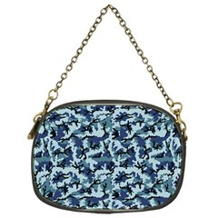 Navy Camouflage Chain Purses (One Side)