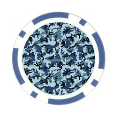 Navy Camouflage Poker Chip Card Guard (10 pack)