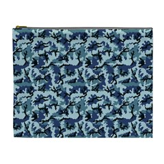 Navy Camouflage Cosmetic Bag (XL)