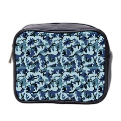 Navy Camouflage Mini Toiletries Bag 2-Side