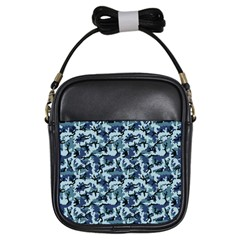 Navy Camouflage Girls Sling Bags