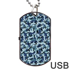 Navy Camouflage Dog Tag USB Flash (Two Sides)