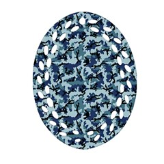 Navy Camouflage Ornament (Oval Filigree)