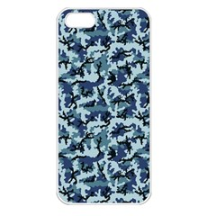 Navy Camouflage Apple iPhone 5 Seamless Case (White)