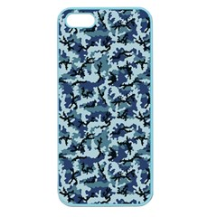 Navy Camouflage Apple Seamless iPhone 5 Case (Color)