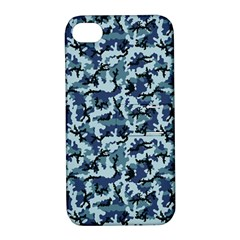 Navy Camouflage Apple iPhone 4/4S Hardshell Case with Stand