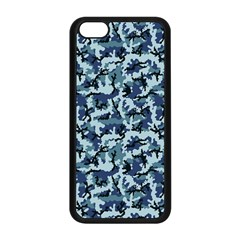 Navy Camouflage Apple iPhone 5C Seamless Case (Black)