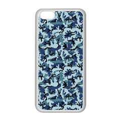Navy Camouflage Apple iPhone 5C Seamless Case (White)