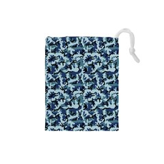 Navy Camouflage Drawstring Pouches (Small)