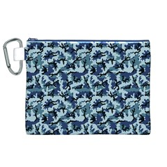 Navy Camouflage Canvas Cosmetic Bag (XL)