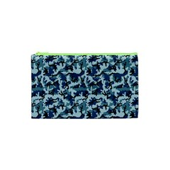 Navy Camouflage Cosmetic Bag (XS)