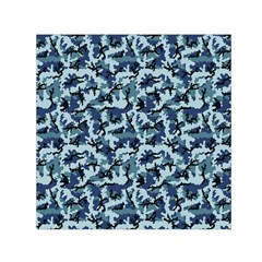 Navy Camouflage Small Satin Scarf (Square)