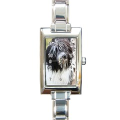 Schapendoes Rectangle Italian Charm Watch