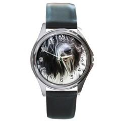 Schapendoes Round Metal Watch