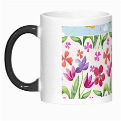 Watercolor flowers and butterflies pattern Morph Mugs