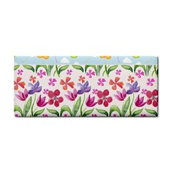 Watercolor flowers and butterflies pattern Cosmetic Storage Cases
