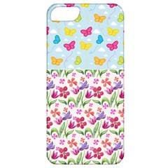Watercolor flowers and butterflies pattern Apple iPhone 5 Classic Hardshell Case