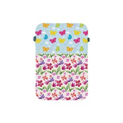 Watercolor flowers and butterflies pattern Apple iPad Mini Protective Soft Cases