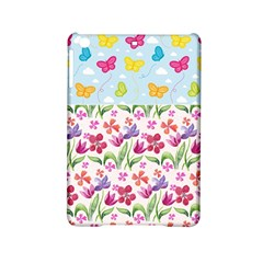 Watercolor flowers and butterflies pattern iPad Mini 2 Hardshell Cases