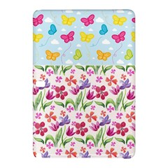 Watercolor flowers and butterflies pattern Samsung Galaxy Tab Pro 12.2 Hardshell Case