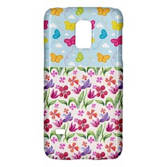 Watercolor flowers and butterflies pattern Galaxy S5 Mini